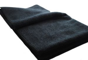 Large Black Knitted Microfibre Cloths